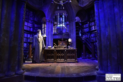 A l'intérieur du bureau d'Albus Perceval Wulfric Brian Dumbledore. © David Trotta