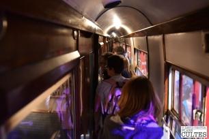 A l'intérieur du Poudlard Express. C'est ce wagon qui a servi à tourner toutes les scènes qui se sont déroulées dans le train pendant plus de dix ans. © David Trotta