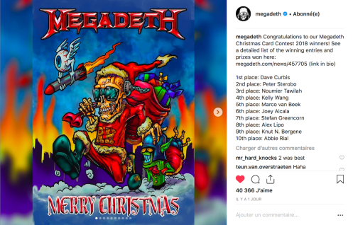 Le groupe de trash metal Megadeth met à l'honneur les créations de ses fans.