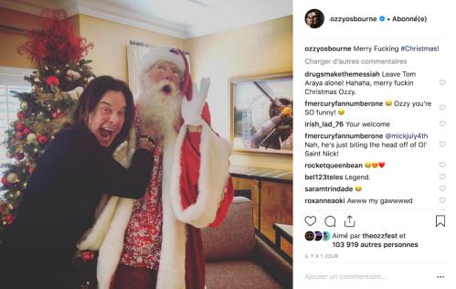 Ozzy Osbourne toujours content. Cette fois-ci en s'en prenant au Père Noël.