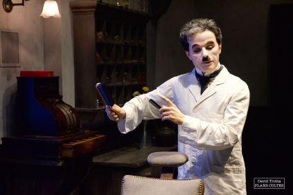 Probablement le film le plus connu de Charlie Chaplin, Le Dictateur occupe une place centrale au coeur du musée. © David Trotta