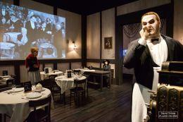 Les scènes de restaurant sont le théâtre de nombreuses scènes dans les films de Chaplin. © David Trotta