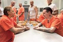 Pléthore d'invités ont passé une tête dans la série Sons of Anarchy. Lors d'un séjour de Jax derrière les barreaux, on peut le voir négocier avec Marilyn Manson.
