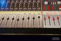 """Réplique de la console """"Neve 8048"""", pièce maîtresse de la régie des Mountain Studios © David Trotta"""
