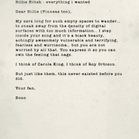 Billie Eilish - Everything I Wanted. Source : U2.com