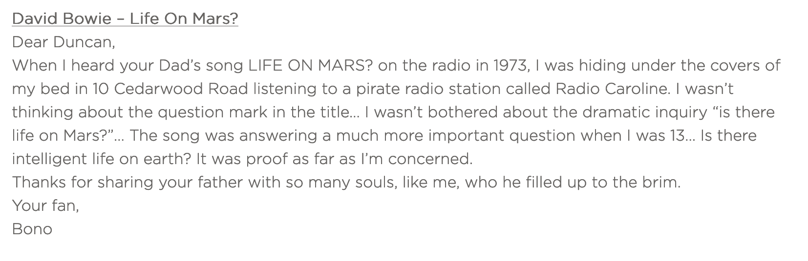 David Bowie – Life on Mars ?