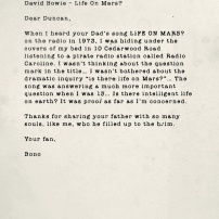 David Bowie - Life on Mars?. Source : U2.com