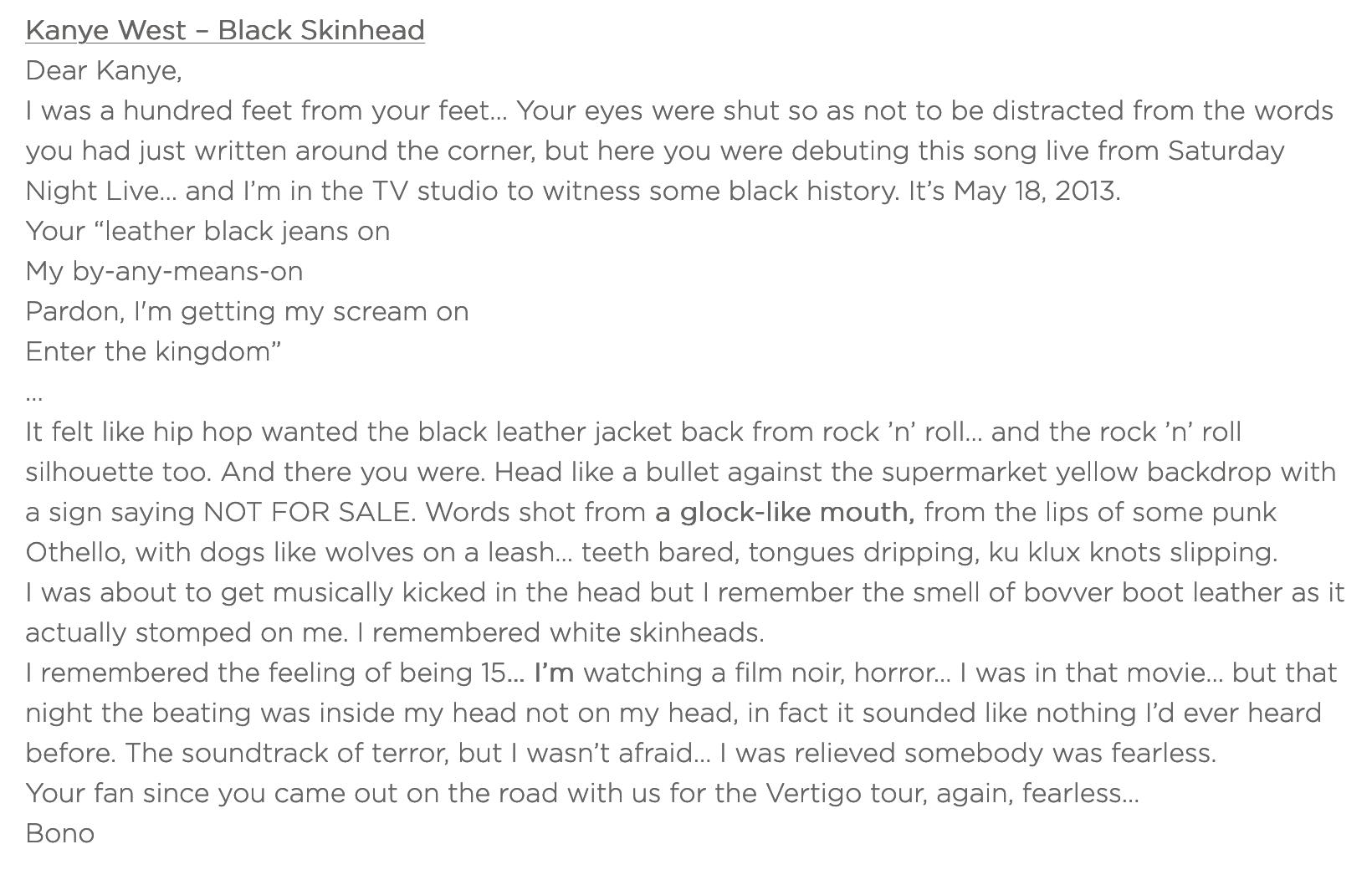 Kanye West – BlackSkinhead